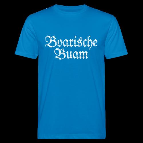 Boarische Buam (Vintage/Weiß) Bio T-Shirt - Männer Bio-T-Shirt