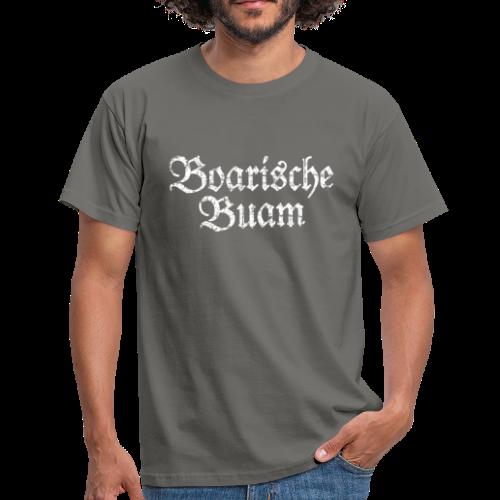 Boarische Buam (Vintage/Weiß) T-Shirt - Männer T-Shirt