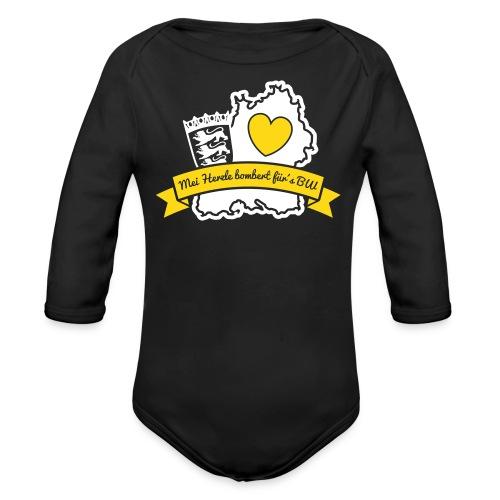 Herzle BW - Baby Bio-Langarm-Body