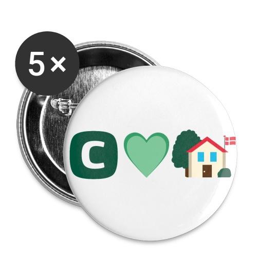 C elsker vores hjem - Buttons/Badges mellemstor, 32 mm (5-pack)