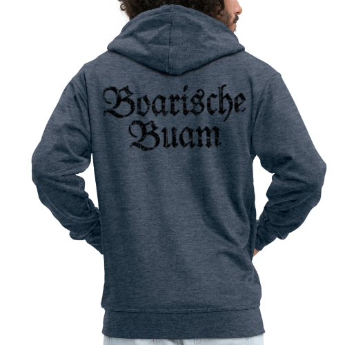 Boarische Buam (Vintage/Schwarz) Kapuzenjacke - Männer Premium Kapuzenjacke