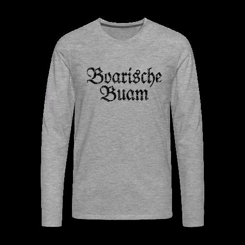 Boarische Buam (Vintage/Schwarz) Langarmshirt - Männer Premium Langarmshirt