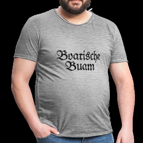 Boarische Buam (Vintage/Schwarz) T-Shirt - Männer Vintage T-Shirt