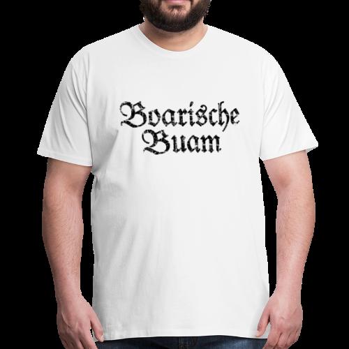 Boarische Buam (Vintage/Schwarz) S-5XL T-Shirt - Männer Premium T-Shirt