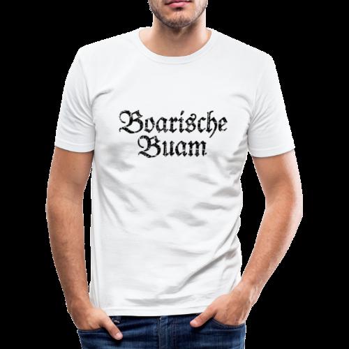 Boarische Buam (Vintage/Schwarz) Slim Fit T-Shirt - Männer Slim Fit T-Shirt