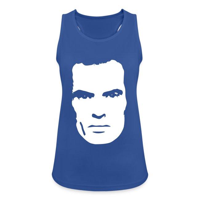 AM-Face. Ladies Breathable vest top. Blue