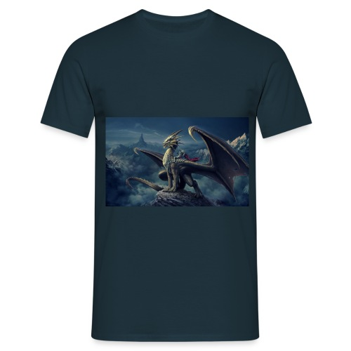 Blue Dark Dragon - Men's T-Shirt