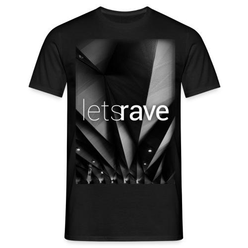 letsrave #1 T-shirt | Men | black - Männer T-Shirt