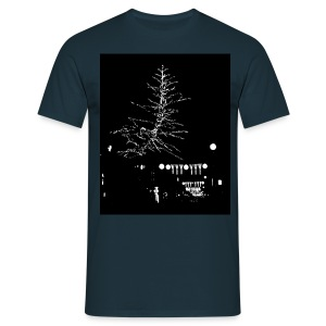 SPARKLING SILVER CHRISTMAS - Men's T-Shirt
