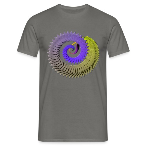 Organic Spiral - Mannen T-shirt