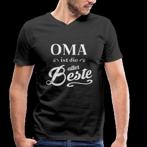Oma - Männer Bio-T-Shirt mit V-Ausschnitt von Stanley & Stella