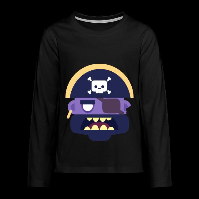 Captain Zed - Teenager premium T-shirt med lange ærmer