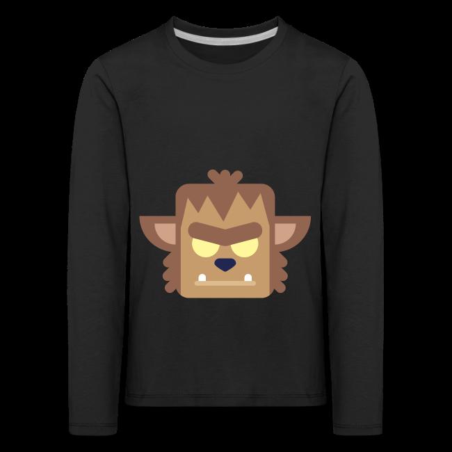 Werewolf - Premium Børne Langærmet