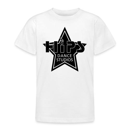 Teenage T - Blackstar big - Fløjlstryk - Teenager-T-shirt