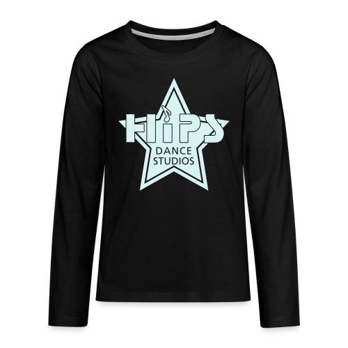 Teenage T - Glowstar big - Power-refleks tryk - Teenager premium T-shirt med lange ærmer