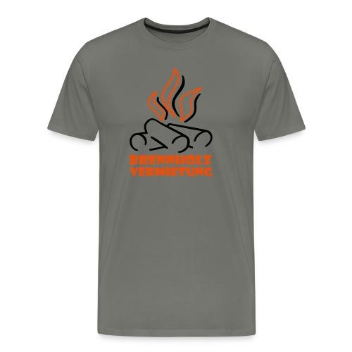 Brennholz Premium asphalt - Männer Premium T-Shirt