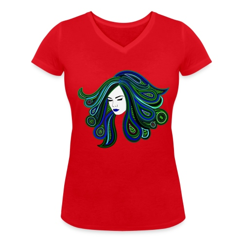 Psyched - Frauen Bio-T-Shirt mit V-Ausschnitt von Stanley & Stella