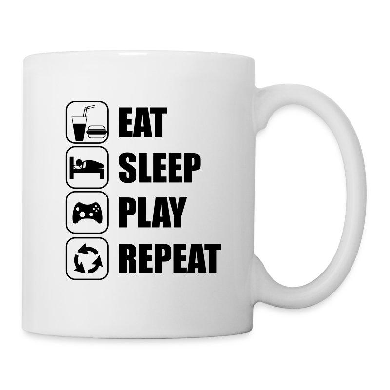 Eat Sleep Play Repeat Mug | Spreadshirt