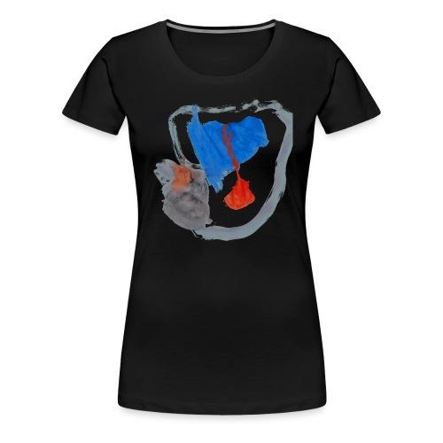 Mütze von Ronja auf schwarzem Frauenshirt - Frauen Premium T-Shirt