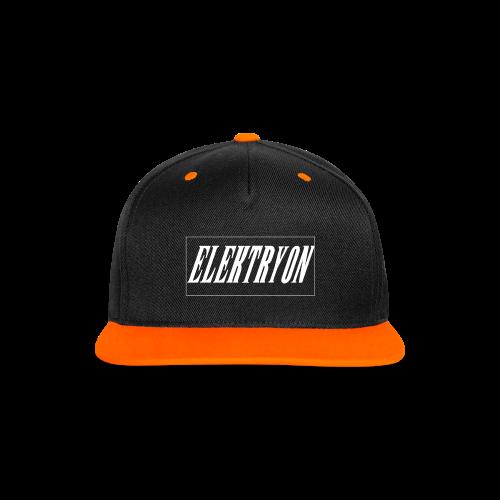 Elektryon Snapback Cap Orange - Kontrast Snapback Cap