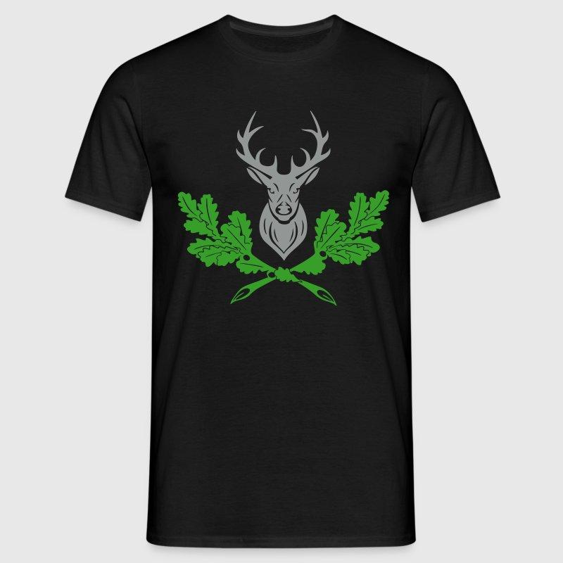 hirsch geweih eiche logo tshirt spreadshirt