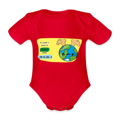 Mundo Loco - Body orgánico de maga corta para bebé