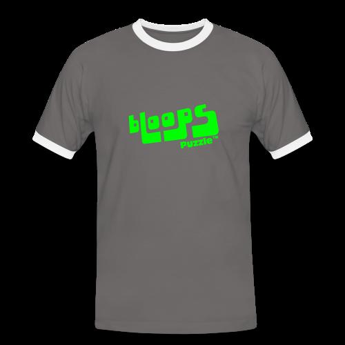 Men's Ringer Shirt bLoops Puzzle (printed green) - Men's Ringer Shirt
