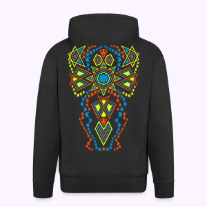 Tribal Sun Men's Hoodie Jacket - Mannenjack Premium met capuchon