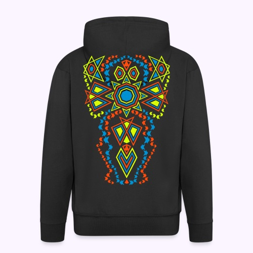 Tribal Sun Men's Hoodie Jacket - Men's Premium Hooded Jacket