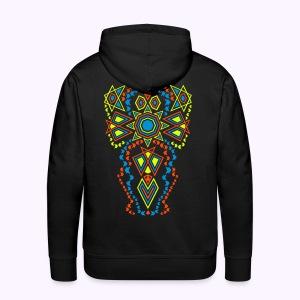 Tribal Sun backside Print Men's Hoodie - Mannen Premium hoodie