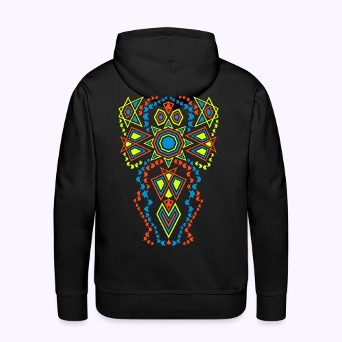 Tribal Sun backside Print Men's Hoodie - Men's Premium Hoodie