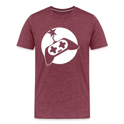 Gamer Powered Logo (White) - Men's Premium T-Shirt