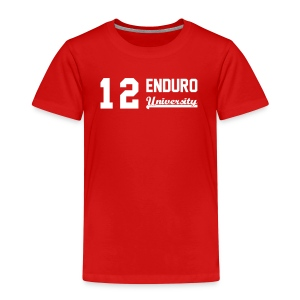 Tee shirt enfant 12 enduro University marquage blanc - T-shirt Premium Enfant