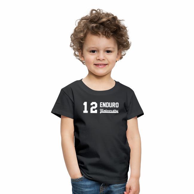 1cca1dc416b6e Tee shirt enfant 12 enduro University marquage blanc