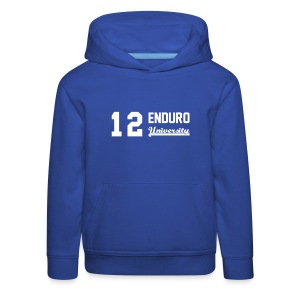 Sweat shirt enfant 12 enduro University marquage blanc - Pull à capuche Premium Enfant