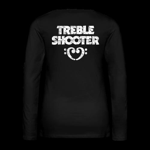 Treble Shooter Bass mit Herz (Vintage/Weiß)