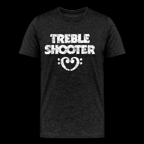 Treble Shooter Bass mit Herz (Vintage/Weiß) S-5XL T-Shirt - Männer Premium T-Shirt