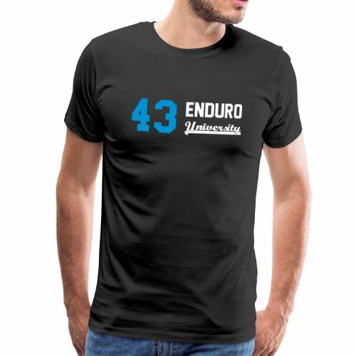 Tee shirt homme 43 enduro University marquage bleu - T-shirt Premium Homme