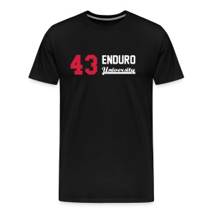 Tee shirt homme 43 enduro University marquage rouge - T-shirt Premium Homme