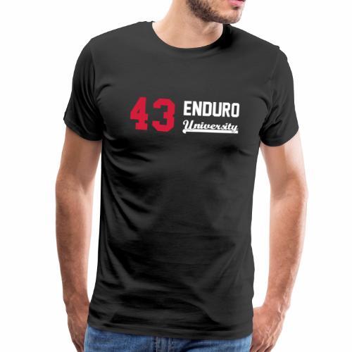Tee shirt homme 43 enduro University marquage rouge - T-shirt Premium Homme