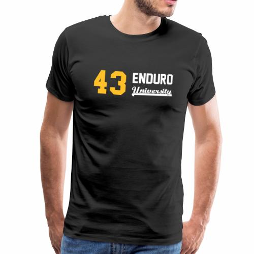 Tee shirt homme 43 enduro University marquage jaune - T-shirt Premium Homme