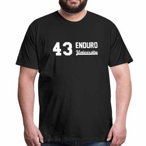 Tee shirt homme 43 enduro University marquage blanc - T-shirt Premium Homme