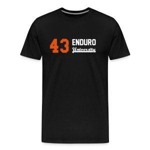 Tee shirt homme 43 enduro University marquage orange - T-shirt Premium Homme