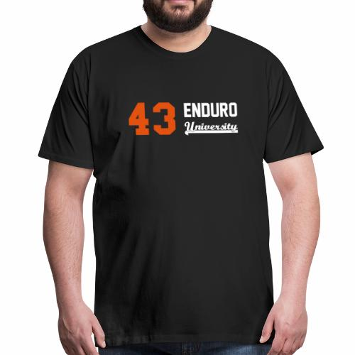 Tee shirt homme 43 enduro University marquage orange - T-shirt Premium Homme