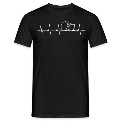 Ich liebe Eisfischen - Männer T-Shirt
