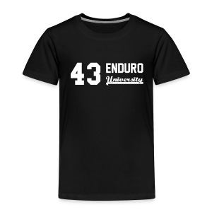 Tee shirt enfant 43 enduro University marquage blanc - T-shirt Premium Enfant