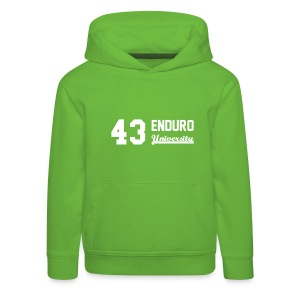 Sweat shirt enfant 43 enduro University marquage blanc - Pull à capuche Premium Enfant