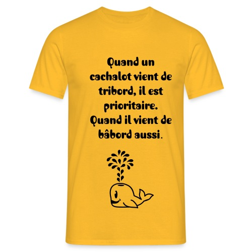 Cachalot priorité - T-shirt Homme