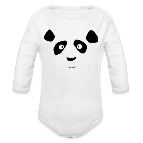 Body Panda Bär - Baby Bio-Langarm-Body