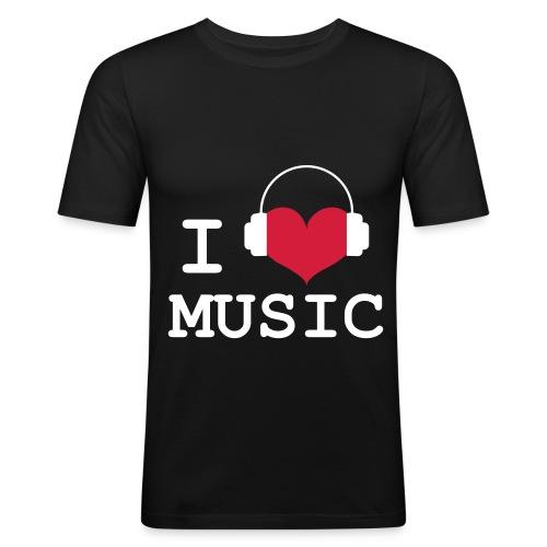 I love Music - Man - Men's Slim Fit T-Shirt